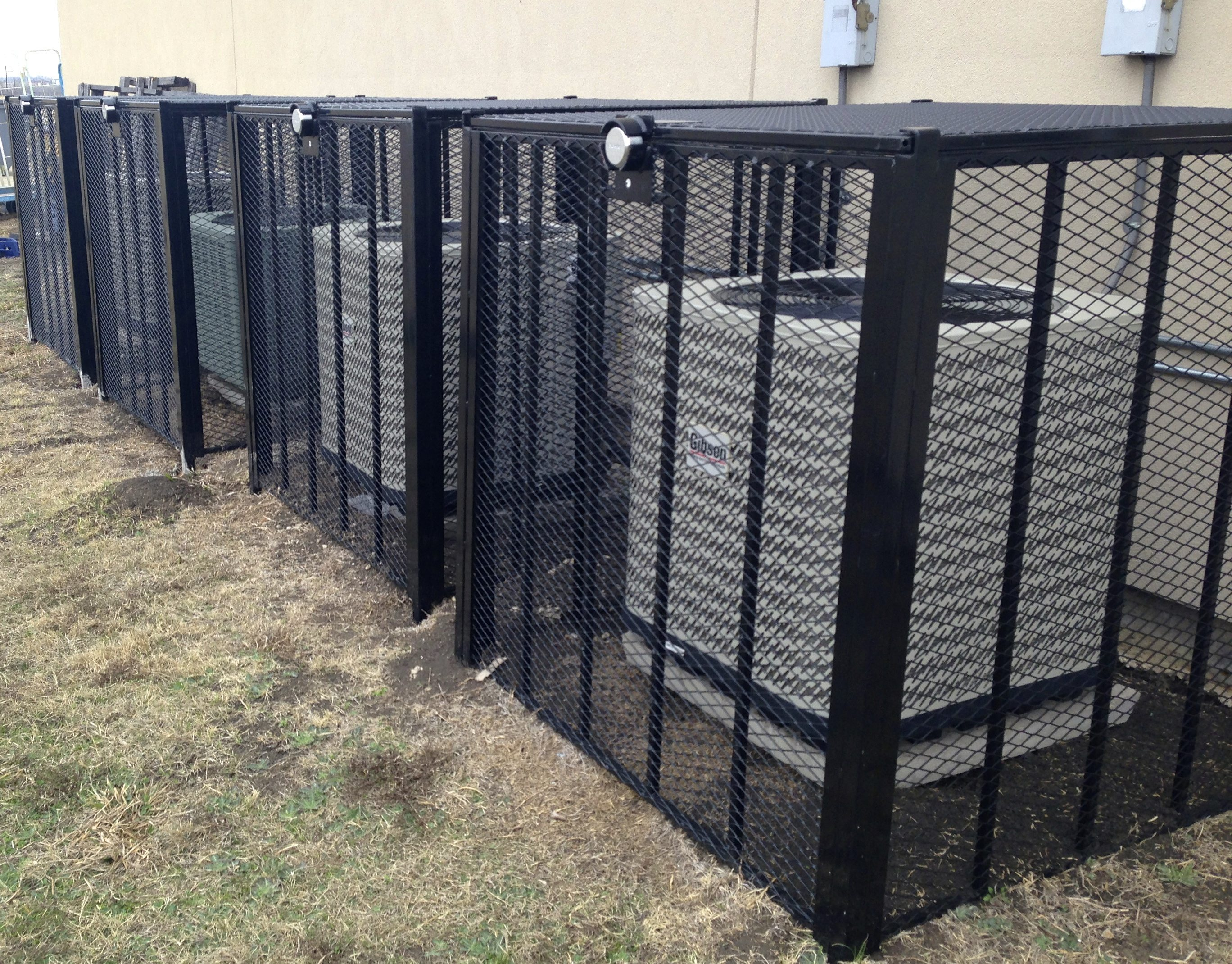 Air Conditioning Cages Custom Conditioner Security Picture #80704B